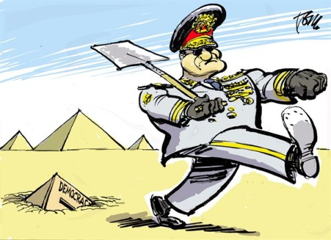 Tom Janssen - The Netherlands - Egyptian democracy - English - Egyptian army and democracy, Egyptian army coup