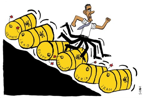 Schot - De Volkskrant, Netherlands - Middle East policy - English - iraq, lebanon, iran, syria, poison gas, sarin, assad, egypt, yemen, obama, usa, middle east