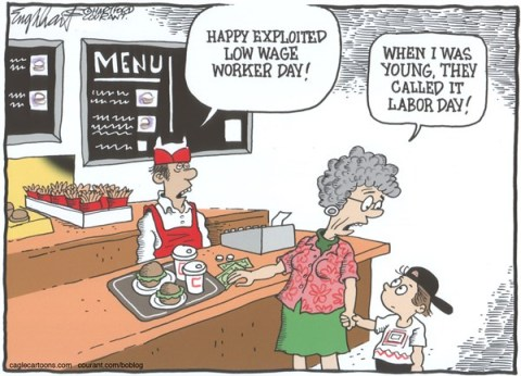 Bob Englehart - The Hartford Courant - Labor DayCOLOR - English -