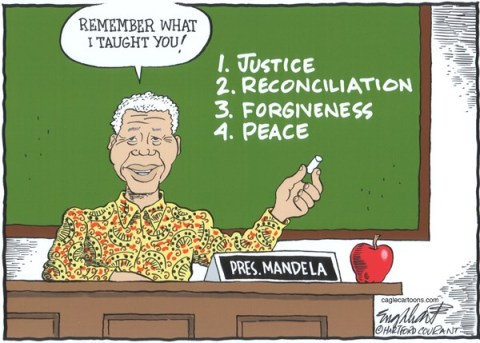 Bob Englehart - The Hartford Courant - Nelson Mandela COLOR - English - nelson mandela,south africa,capetown, memorial