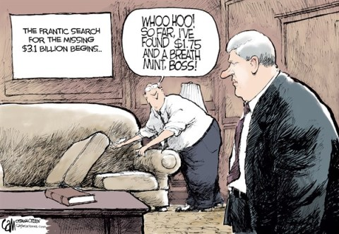 Cardow - The Ottawa Citizen - CANADA Lost Money - English - CANADA, Stephen, Harper, 31, billion, lost, waste, missing