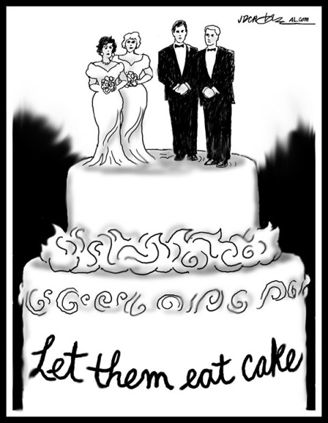 J.D. Crowe - Mobile Register - Let them eat wedding cake DOMA - English - DOMA, same-sex marriage, Supreme Court
