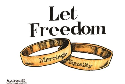 Jimmy Margulies - The Record of Hackensack, NJ - Let Freedom Ring color - English - Marriage Equality, Gay Marriage, Same Sex Marriage, DOMA, Proposition 8