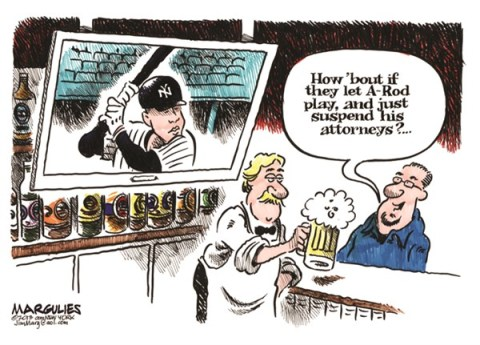 Jimmy Margulies - The Record of Hackensack, NJ - A-rod attorneys color - English - A-Rod, Alex Rodriguez, A-Rod doping suspension, A-Rod injury, Yankees, A-Rod/Yankees feud