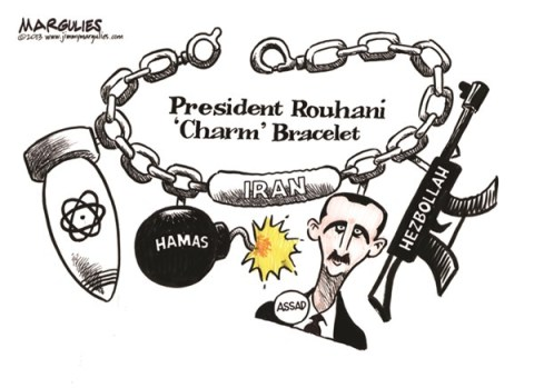 "Jimmy Margulies - The Record of Hackensack, NJ - President Rouhani ""Charm"" Bracelet color - English - President Rouhani, Iran, US-Iran relations"