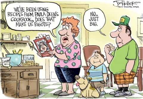 Joe Heller - Green Bay Press-Gazette - Paula Deen - English - Paula Deen, N-word, racism, bigot, food channel, recipe, cookbook