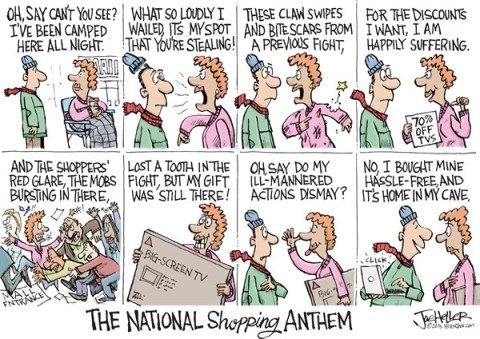 Joe Heller - Green Bay Press-Gazette - Shopping Anthem - English - national shopping anthem, christmas, black friday, cyber monday