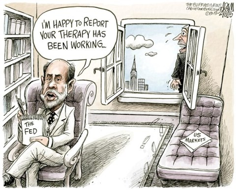 Adam Zyglis - The Buffalo News - Fed Chief Bernanke COLOR - English - federal reserve, fed, chair, chief, ben bernanke, markets, stock, us, economy, business, wall street