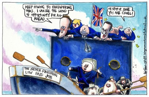 Iain Green - The Scotsman, Scotland - UK TORY PARTY CONFERENCE PLEDGES - English - UK, britain, tory party, conservatives, party conference, david cameron, george osborne, boris johnson, iain duncan smith, ids, low pay, jobs, hardworking families, ship, rowing, fat cats, finishing the job, union jack