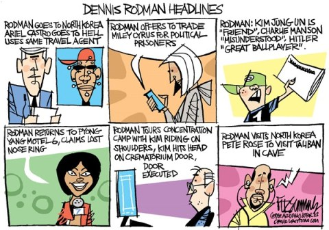 David Fitzsimmons - The Arizona Star - Rodman - English - Dennis Rodman, North Korea