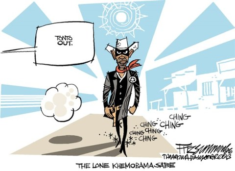 David Fitzsimmons - The Arizona Star - The Lone Man - English - Obama, syria