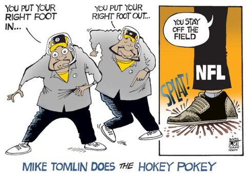 Randy Bish - Pittsburgh Tribune-Review - STEELERS COACH FINED BY NFL, COLOR - English - PITTSBURGH, STEELERS, MIKE TOMLIN, NFL, FOOTBALL, FINE, INTERFERENCE, COACH