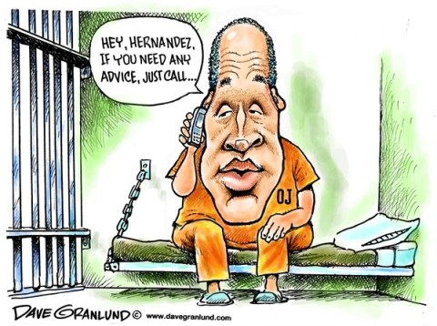 Dave Granlund - Politicalcartoons.com - Aaron Hernandez murder charge - English - 		Hernandez,Patriots,murder charge,arrested,gun,aaron hernandez,sports,killing,jailed,handgun,murdered,videos,police,investigation,shooting,massachusetts,new england