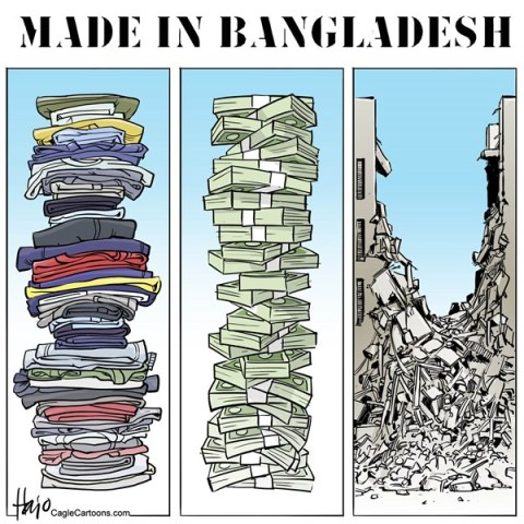 Hajo de Reijger - The Netherlands - Bangladesh - English - Bangladesh, clothing, money, made in Bangladesh, textile, fashion, buildings, towers, stacks, collapse, factory, exploitation