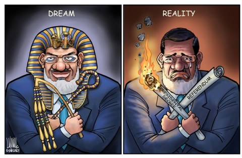 Luojie - China Daily, China - Dream and reality - English - dream,reality,Morsi,Egypt,presidential decree,referendum