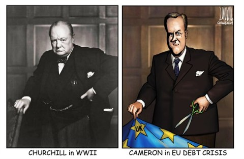 Luojie - China Daily, China - Portrait - English - portrait,Churchill,WWII,Cameron,EU,debt crisis,UK