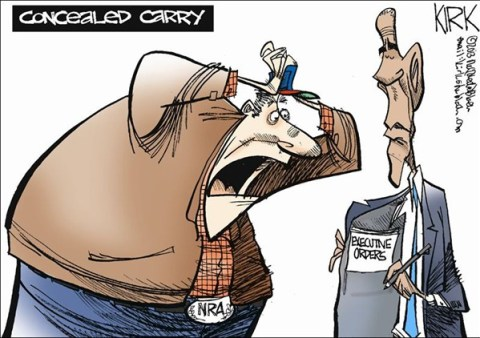 Concealed Carry © Kirk Walters,Toledo Blade,obama,guns,nra,executive,order,obama-guns