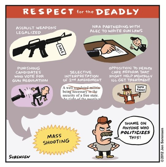 Respect for the Deadly © Sorensen,Slowpoke,guns,legal,deadly,shooting,killing,freedom,rights,life-with-guns,gun debate 2012, nra