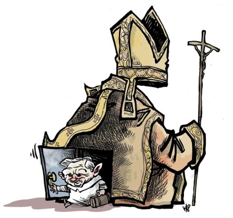 Kap - La Vanguardia, Spain - Pope resign color - English - Pope, Vatican,  Benedict XVI, resign, Rome, Ratzinger