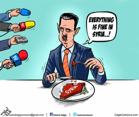 Osama Hajjaj - Abu Mahjoob Creative Productions - Assad Eats Syria - English - assad,leader,violence