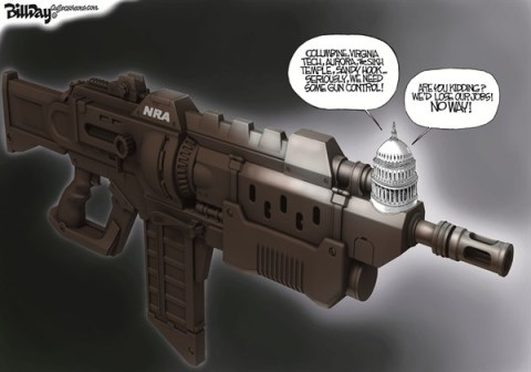Bill Day - Cagle Cartoons - Capitol Assault - English - NRA, guns, gun control, Congress