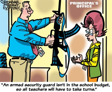 Armed Teachers © Cal Grondahl,Utah Standard Examiner,guns,teachers,school,armed,guards,weapons,violence,protection,school violence, second amendment