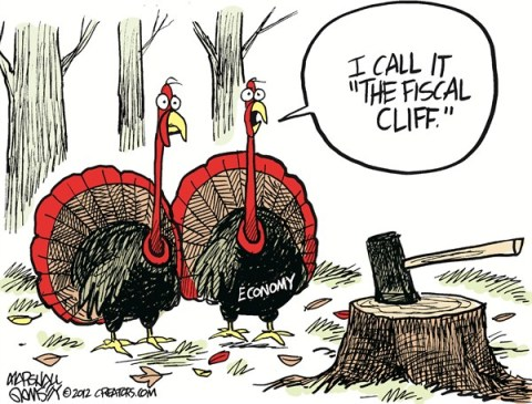 Turkey Fiscal Cliff © Marshall Ramsey,The Clarion Ledger, Jackson Mississippi,turkeys,fiscal cliff, turkeys 2012