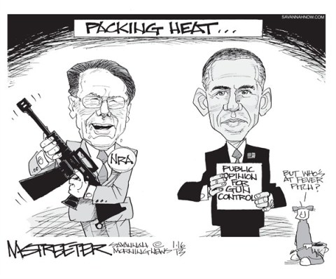 Temperatures Rising © Mark Streeter,The Savannah Morning News,nra,guns,weapons,obama,violence,ban,violence,guns,obama-guns