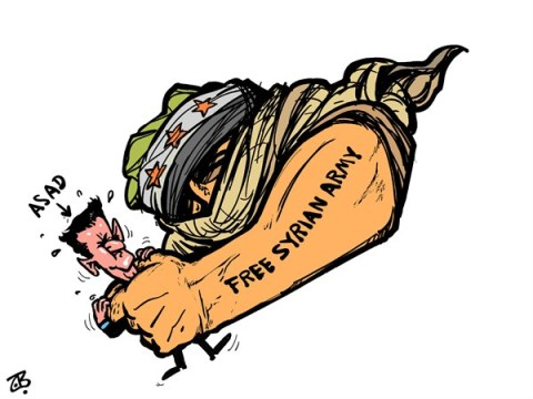 Emad Hajjaj - Jordan - Free Syrian Army - English - Free Syrian Army,rebels closing,Damascus,Bashar Assad,end,fist,Syria,Revolution,victory,Map of Syria,Arab Spring,Emad Hajjaj,Middle East,