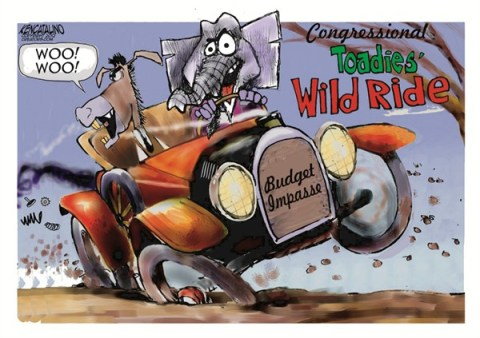 Toadies Wild Ride © Ken Catalino,National/Syndicated,fiscal cliff,budget,impasse,gop,tax,gop-fiscal-cliff