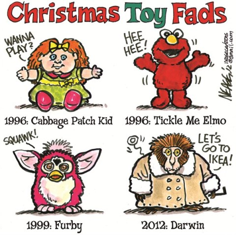 Toy Fads © Steve Nease,Freelance,shopping,toy,fads,elmo,play,kids,dolls,furby,darwin,ikea,holiday shopping 2012,Christmas 2012, gifts
