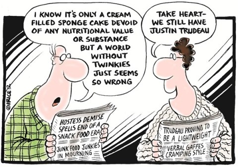 Hostess and Justin Demise © Ingrid Rice,British Columbia, Canada,hostess,twinkie,gaffe,verbal,justin trudeau,junk,food