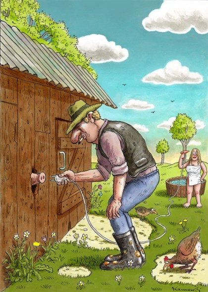 127409 600 Ecological Farmer cartoons