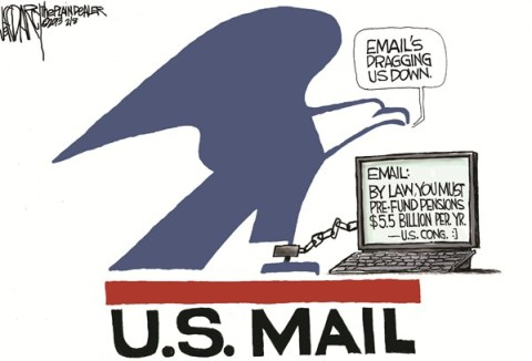 Jeff Darcy - The Cleveland Plain Dealer - Postal service red ink - English - Saturday mail delivery,US Postal Service,US Mail,email