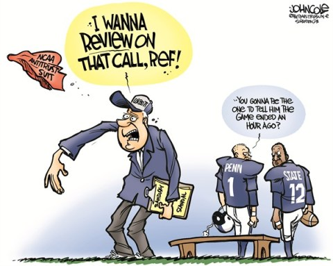 John Cole - The Scranton Times-Tribune - LOCAL PA -- Corbett sues NCAA COLOR - English - pennsylvania, penn state, sandusky, tom corbett, ncaa, penalties, psu