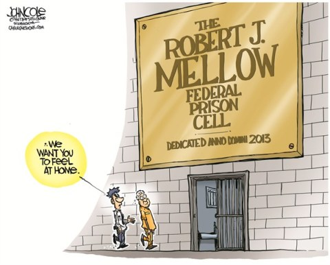 John Cole - The Scranton Times-Tribune - LOCAL PA -- Bob Mellow reports to prison COLOR - English - pennsylvania, robert mellow, legislature, bonusgate