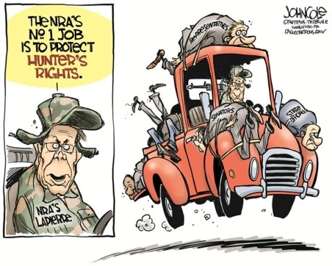 John Cole - The Scranton Times-Tribune - NRA and hunting COLOR - English - NRA, Wayne Lapierre, guns, gun control, newtown, shootings, hunters, sportsmen, congress
