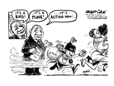 Action Man © Zapiro,zapiro.com ,