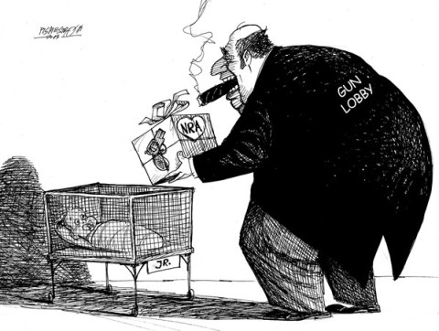 Petar Pismestrovic - Kleine Zeitung, Austria - Gift with Love - English - NRA, Weapon industry, Lobby, USA, War, Terror, Money