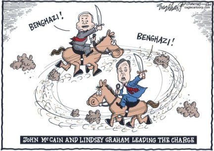 Bob Englehart - The Hartford Courant - John McCain and Lindsey Graham - English -