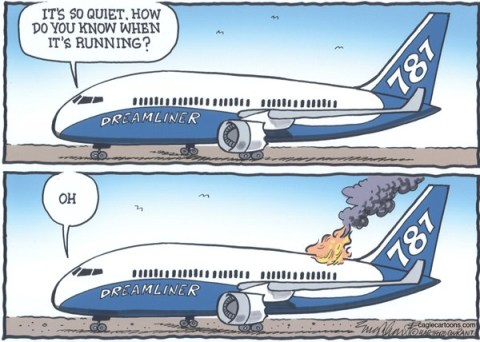 Bob Englehart - The Hartford Courant - Boeing 787 Dreamliner - English - aircraft,passenger planes, air transport,jet, passenger jet