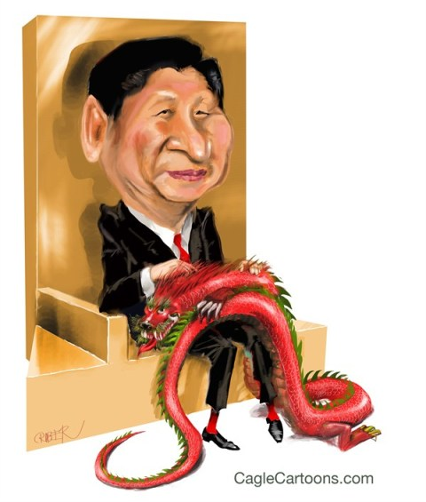 Xi Jinping with dragon © Riber Hansson,Sweden,China,Xi Jinping