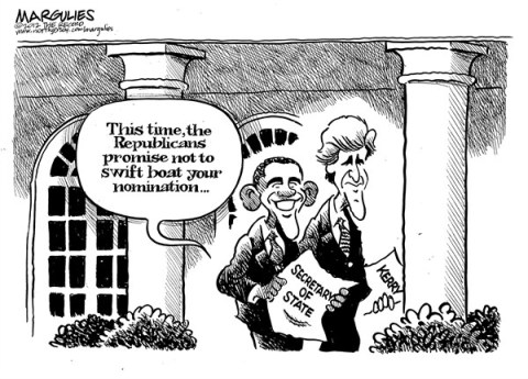 Jimmy Margulies - The Record of Hackensack, NJ - Kerry nomination for Secretary of State - English - Secretary of State, John Kerry, Senator Kerry, Swift boat, Kerry presidential run 2004, State Department, Foreign policy, US foreign policy
