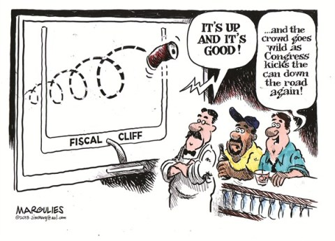 Jimmy Margulies - The Record of Hackensack, NJ - Fiscal cliff color - English - Fiscal cliff, Congress, taxes, spending, debt, deficit, entitlements, economy, recession, Obama, Boehner, Reid, McConnell