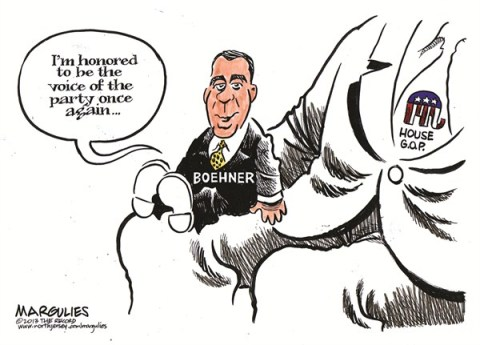 Jimmy Margulies - The Record of Hackensack, NJ - Boehner elected House Speaker again color - English - John Boehner, 113th Congress, Congressional Republicans, House Republicans, Tea Party, Speaker of the House