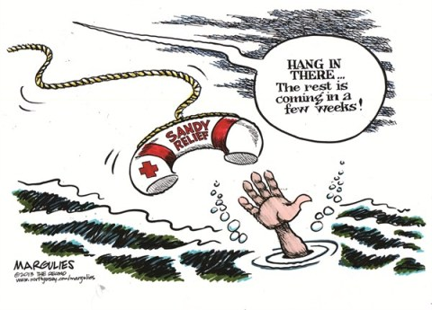 Jimmy Margulies - The Record of Hackensack, NJ - Sandy Relief color - English - Sandy Relief, Sandy victims, Superstorm Sandy, Hurricane Sandy