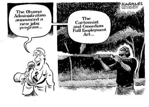 Jimmy Margulies - The Record of Hackensack, NJ - Obama Skeet shooting photo - English - Obama Skeet shooting photo, Guns, Gun control, NRA, Background checks, Assault weapons, Newton, Sandy Hook, Gun lobby