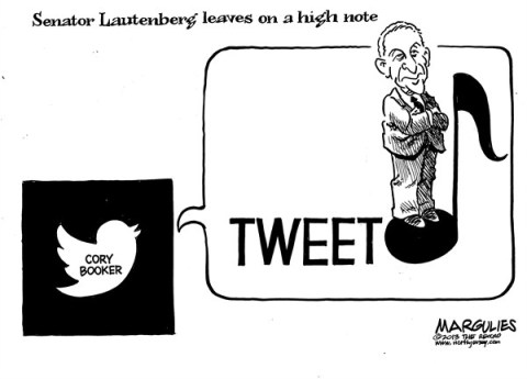 Jimmy Margulies - The Record of Hackensack, NJ - Senator Lautenberg retirement - English - Senator Lautenberg retirement, Senator Lautenberg, Cory Booker, Newark Mayor Cory Booker, New Jersey US Senate seat
