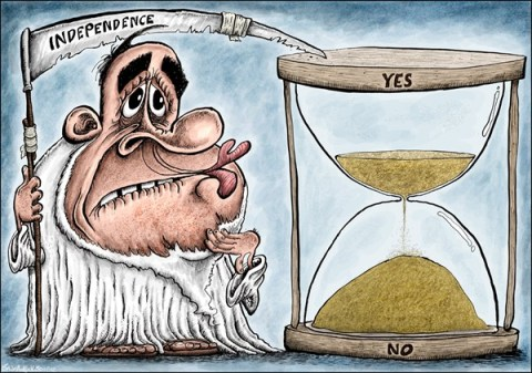 Brian Adcock - The Scotland - Alex Salmond and Scottish Independence - English - scotland, alex salmond, SNP, independence, hour glass, old father time, time running out, scottish national party,