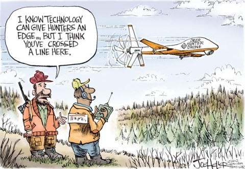 Joe Heller - Green Bay Press-Gazette - Deer Hunt 2012 - English - Deer Hunt 2012, Wisconsin, drone, technology, hunting, DNR, outdoors, sportsman